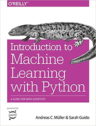 introduction to machine learning with python cover with lizard