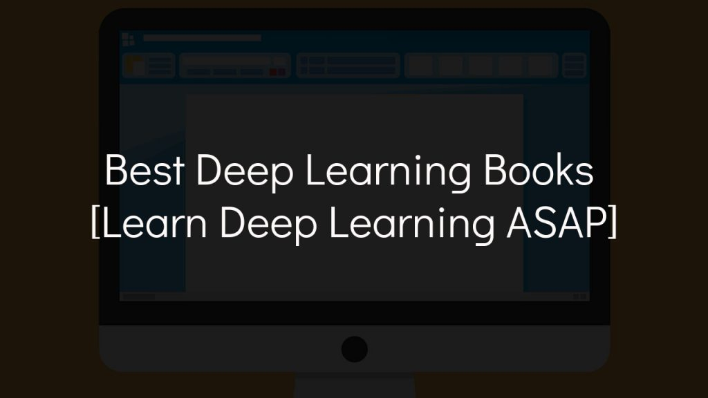best deep learning books with faded black background
