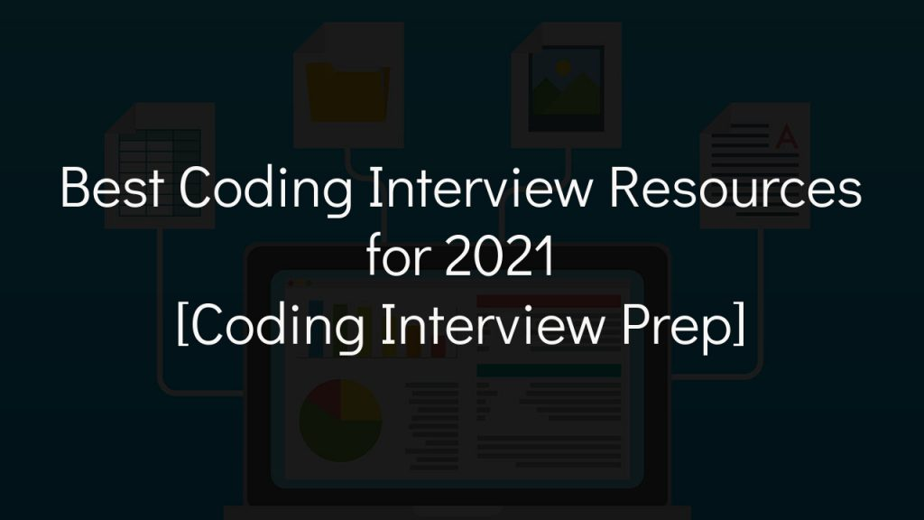 coding interview prep cover with faded black background