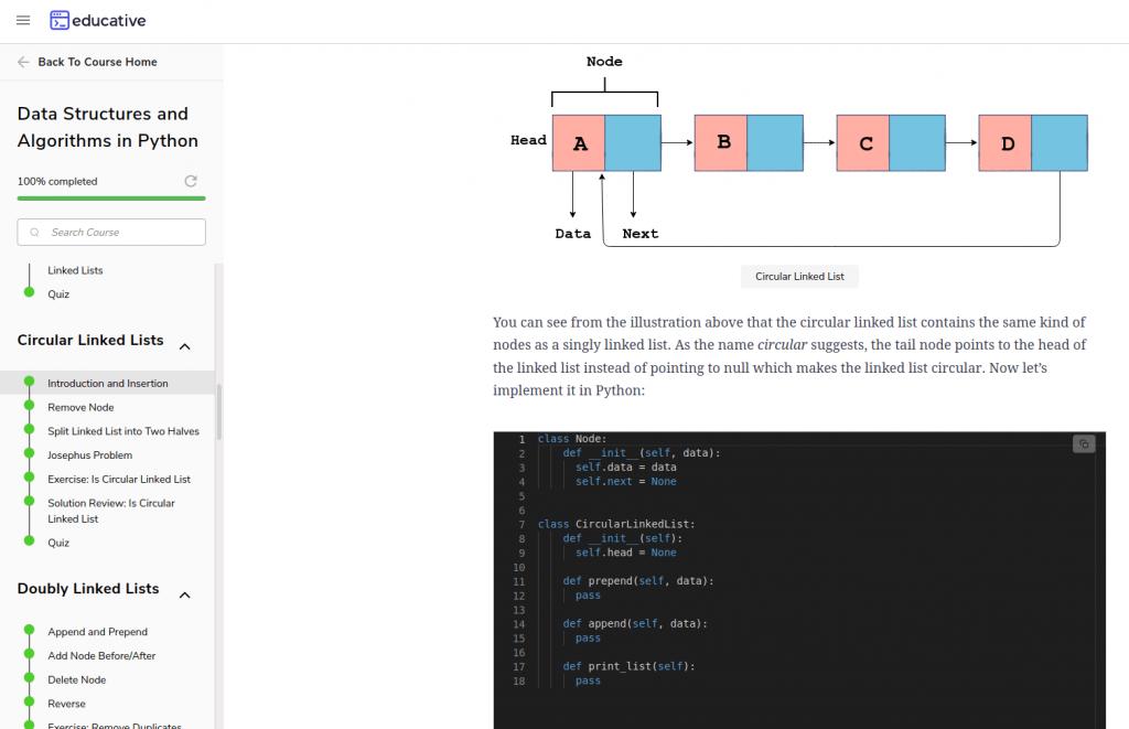 educative diagram and code best algorithms courses