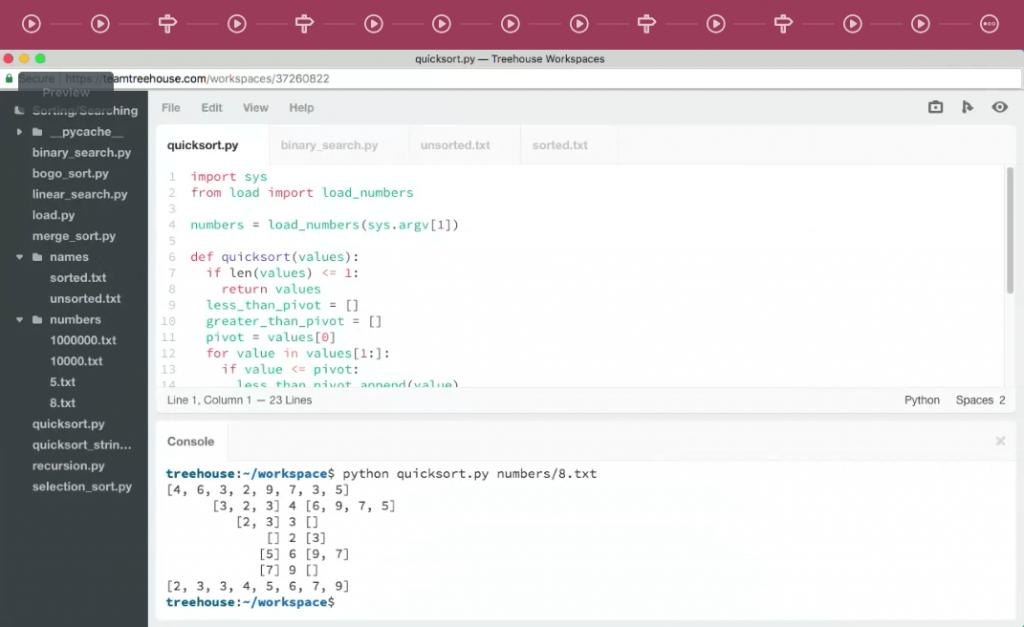 treehouse video of algorithms coding best algorithms courses
