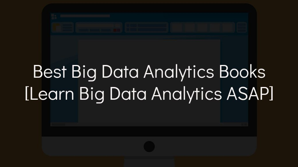 best big data analytics book with faded black background