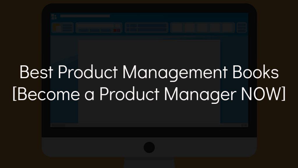 best product management books with faded black background