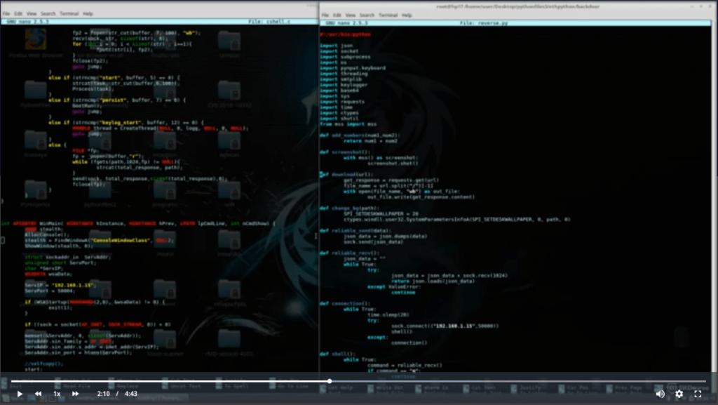 best hacking courses computer desktop with code