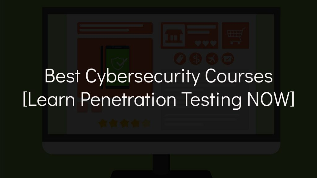 best cybersecurity courses with faded black background