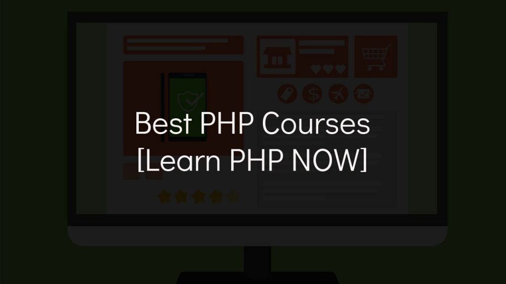 best php courses [learn php now] with faded black background
